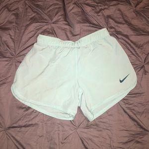 Turquoise Nike shorts